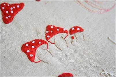 paddenstoelen borduren