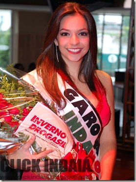 Carina Belforte, eleita Garota IndaNove (Crédito: Fábio Alexandre)