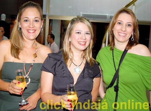 Janaína, Carla e Samantha na inauguração da Club Polo (Crédito: Fábio Alexandre)