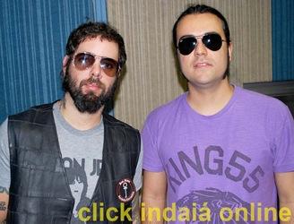 Tico e Renato na Clip FM (Crédito: Maurício Branzani)