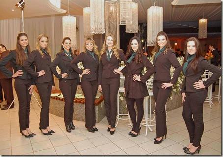 As belas recepcionistas (Crédito: Fábio Alexandre)