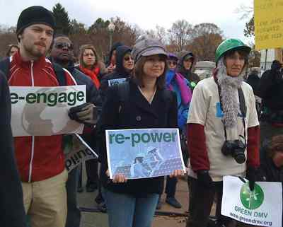 Nov 18, 2008: On a cold day, extremely low turnout for DC global warming rally