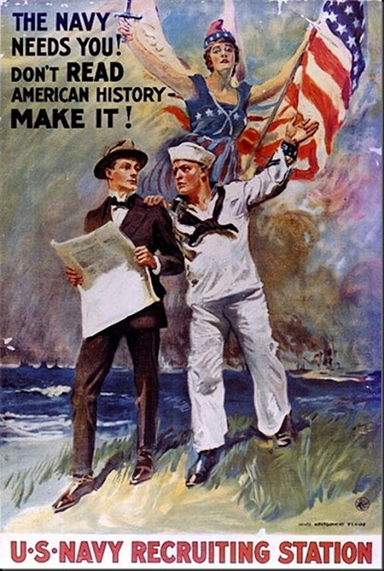 James_Montgomery_Flagg_The_Navy_Needs _ou!_Don't _Read_American_History