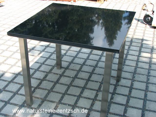 Tisch k che 60 60 edelstahl granit k chentisch esstisch for Esstisch mit granitplatte