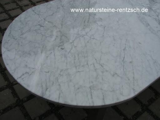 Tischplatte marmor carrara weiss couchtisch platte oval for Tischplatte marmor rund