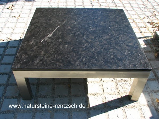 Wohnzimmertisch couchtisch matrix lederoptik granit ebay for Wohnzimmertisch granit