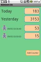 Screenshot of Walttend Lite - Pedometer