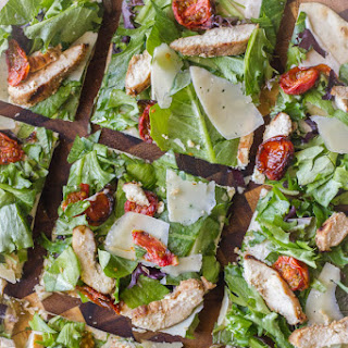 Chicken Caesar Pizza With Oven Roasted Tomatoes
