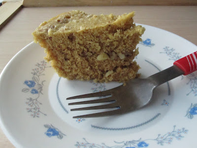 Instant Microwave Banana Nut Cake