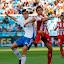 Partido de liga de primera división en La Roamreda Real Zaragoza - Sporting de Gijón.Ánder Herrera.