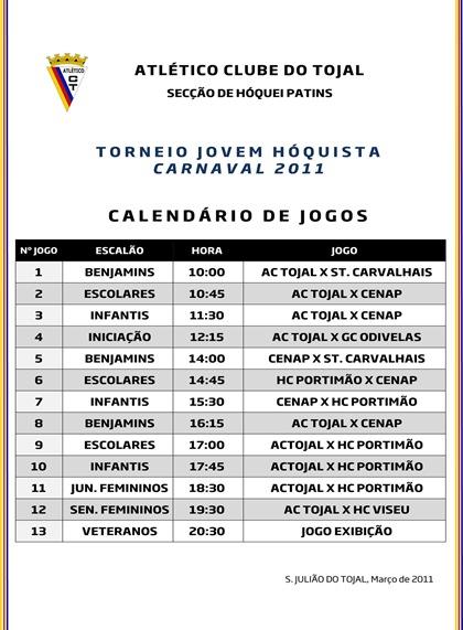 Microsoft Word - Torneio Carnaval - Jogos.doc