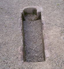 A grave seated in Bordesley Abbey, Redditch, Worcestershire