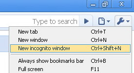 Start Incognito Browsing on Google Chrome