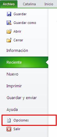 Activar y usar complementos en Excel 2010_2