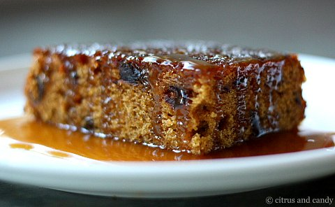 Sticky date pudding from Citrus and Candy