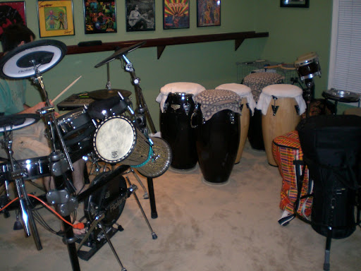 Andy's drum room: Awesome. Race day: I'm up early and the moment I step out ...