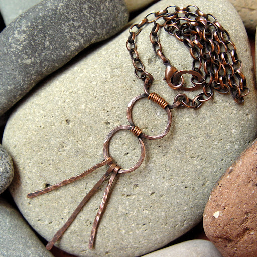 HECATE earthy rustic copper necklace