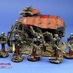 Dark Mechanicus Protectors and Stalker Plague Marines and Rhino 1.jpg