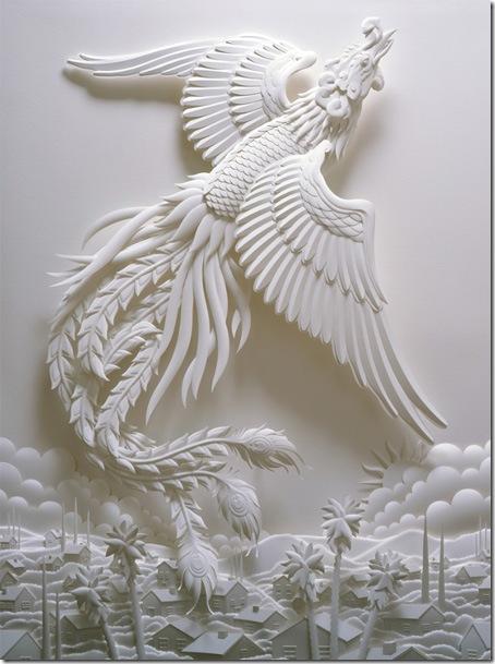 sculptura 3D din hartie