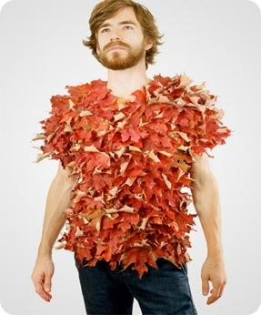 tricou din frunze