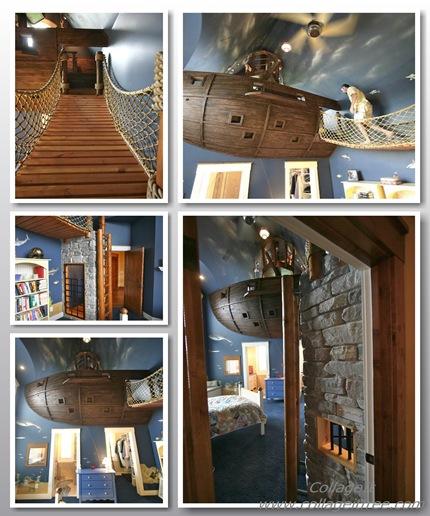 camere pentru copii mici - corabie pirat