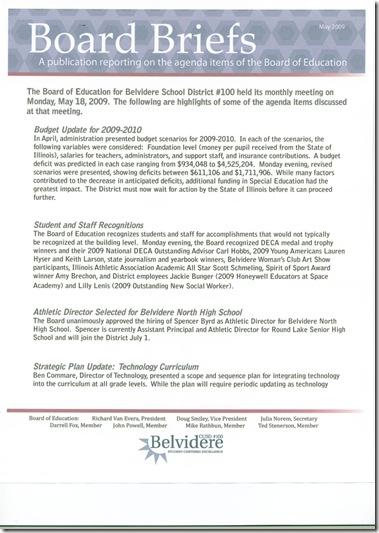 board brief 5-2009