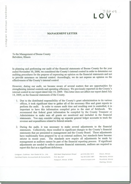 Management Letter 1