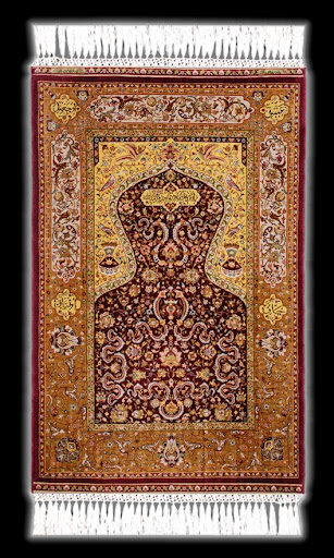 Genuine Hereke Silken Carpet Topkapi