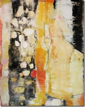 Barbara Rehg mixed media on canvas the wash