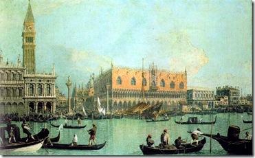 Turner- Canaletto, Veduta del Palazzo Ducale