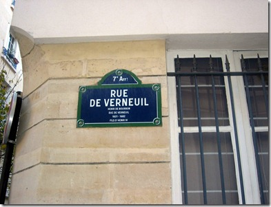 Rue de Verneuil sign