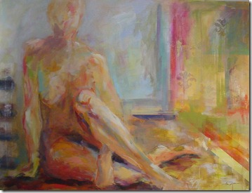 By the window 36 x 48