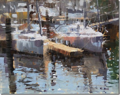 Boatyard Reflections 7x9 $450
