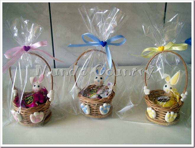 Biscuit coelhos na cesta embalados