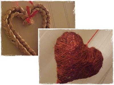 rødt og halm hjerte