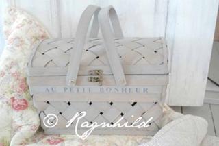 Fransk quilt og piknikkurv