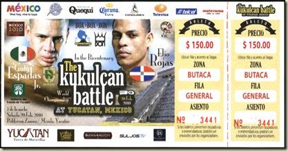 Boleto pelea Elio vs Guty 2010