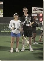 Campeones 2009 Lauren Davis (USA) y Mitchell Frank (USA)