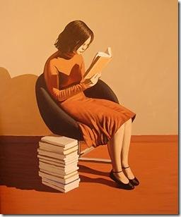 Lectora ensimismada (acrílico sobre lienzo, 73 x 60 cm, feb_2010)