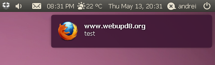 notify OSD ubuntu purple