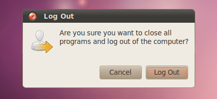 screenshots ubuntu 10.04 lucid log out dialog