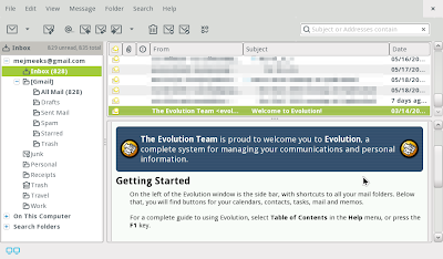 evolution express email client meego screenshot