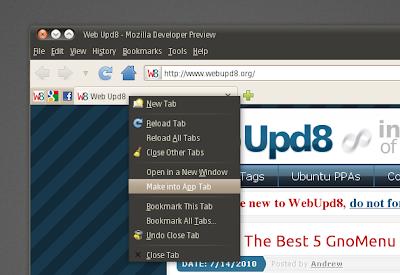firefox app tabs linux