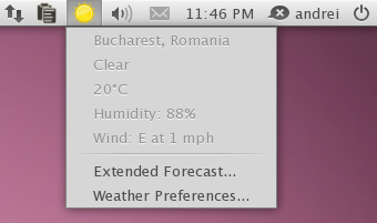 weather indicator applet