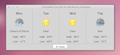 weather indicator applet extended forecast
