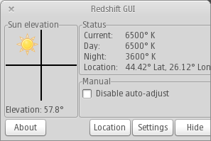 redshift gui
