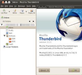thunderbird 3.1.1 ubuntu