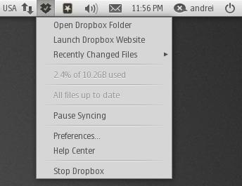 dropbox monochrome icons ubuntu