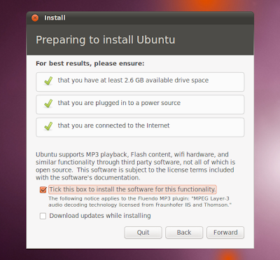 ubuntu 10.10 screenshot installer