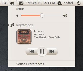 Radiance Sound Indicator buttons ubuntu 10.10 maverick meerkat